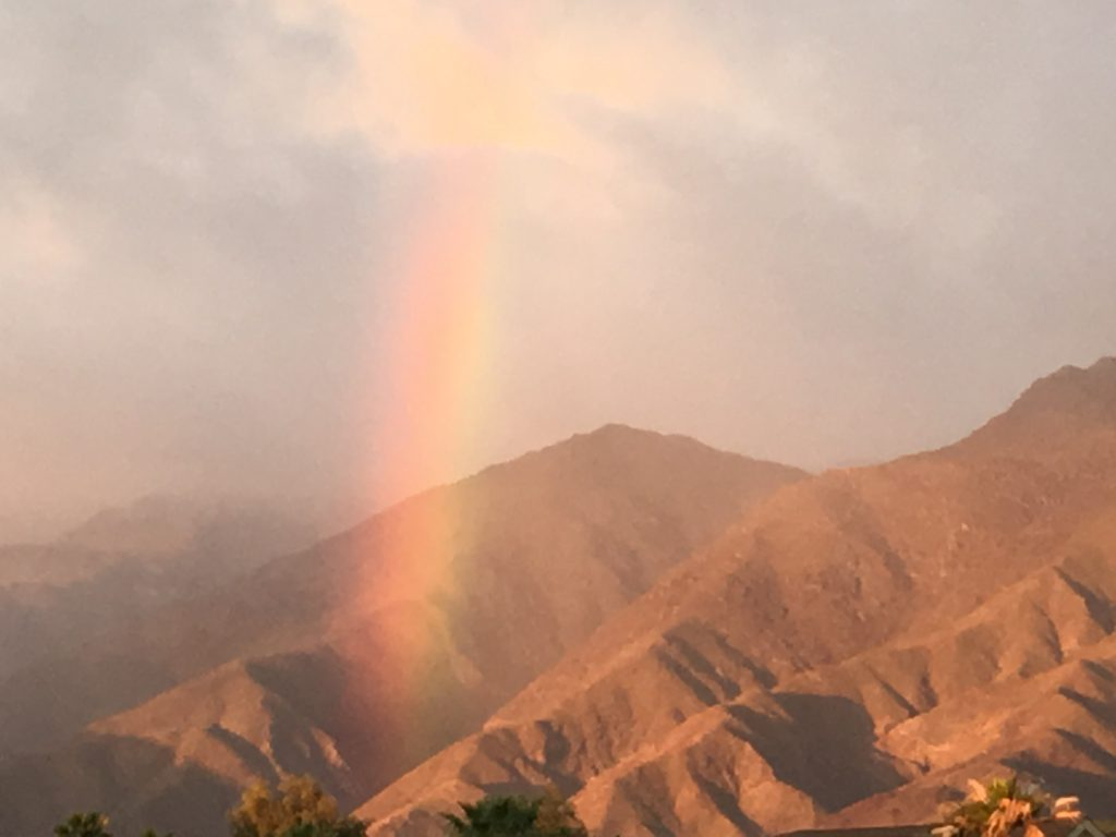 Rainbow in Borrego Springs